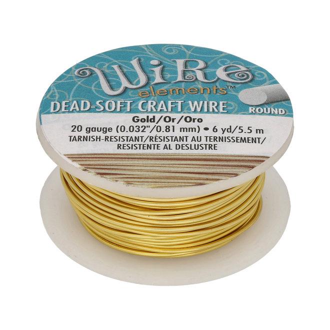Kupferdraht: Wire Elements™ – 20 Gauge – Gold Tarnish Resistant