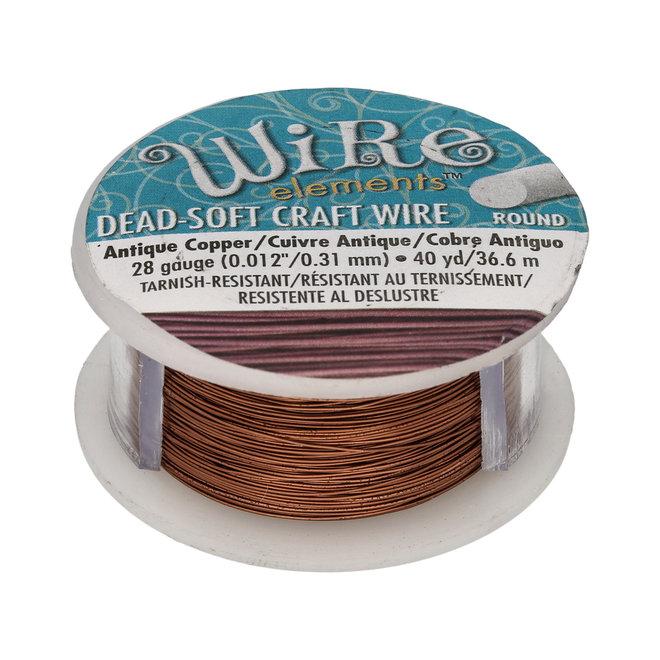 Kupferdraht: Wire Elements™ – 28 Gauge – Antique Copper Tarnish Resistant