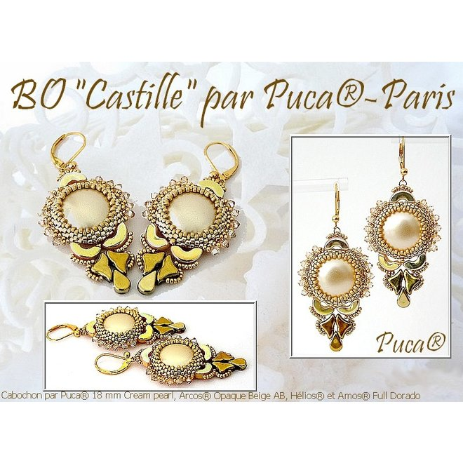 Cabochon par Puca® - 18 mm - Gold Pearl