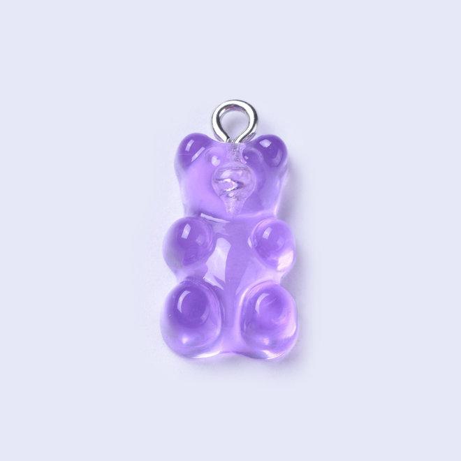 Anhänger aus Kunstharz- Gummibärchen - Violet