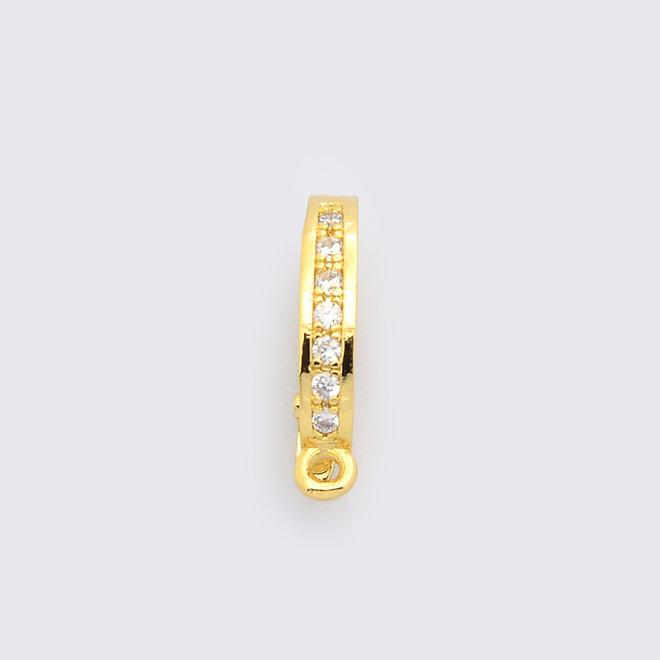 Anhängerschlaufe Snap-on - Micro Pavé Cubic Zirconia - gold