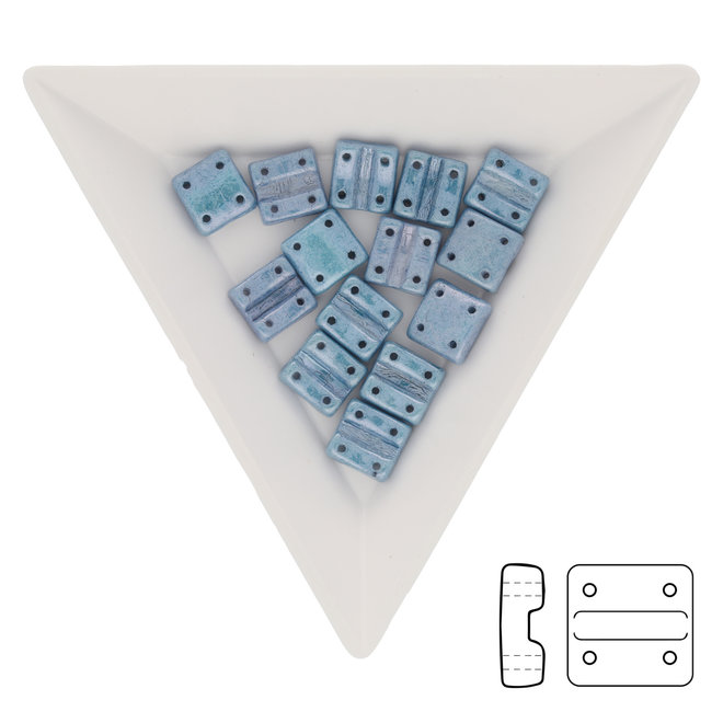 Fixer Beads versione verticale - Chalk Blue Luster