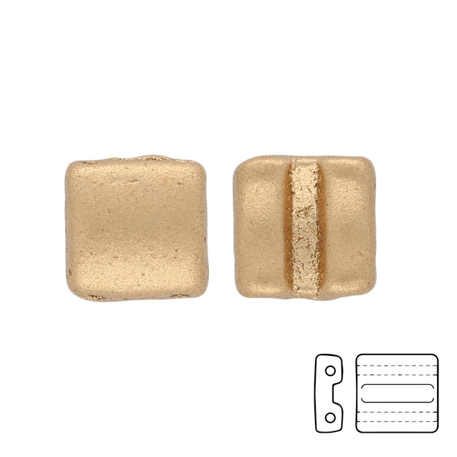 Fixer Beads versione orizzontale - Crystal Bronze Pale Gold