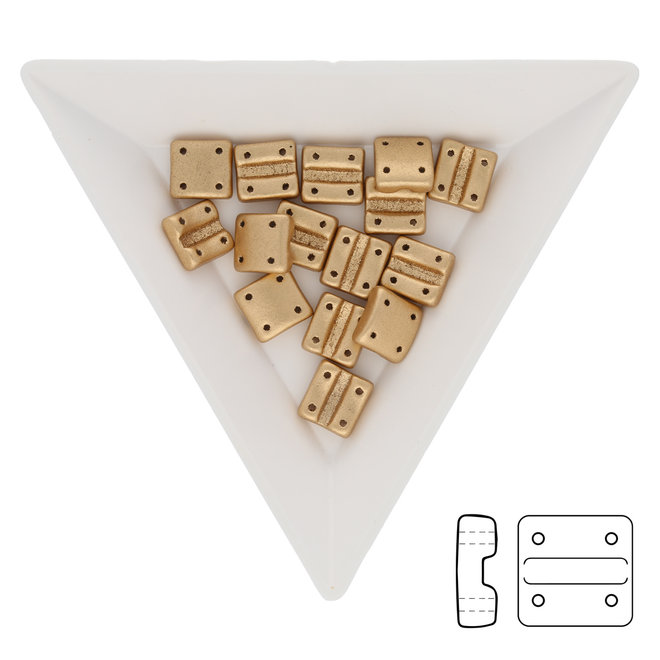 Fixer Beads versione verticale - Crystal Bronze Pale Gold