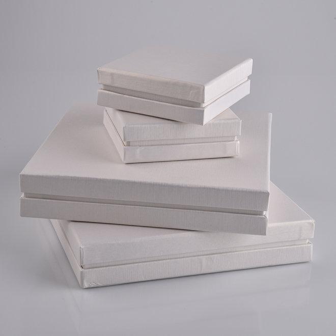 Set di scatole per gioielli eleganti con inserto in gommapiuma nera (24 pz.)