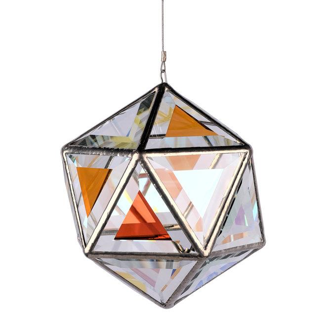 Ankaa, Small, Glas-Skulptur mit zweifarbigem klarem Glas