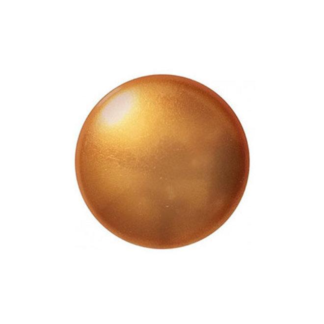Cabochon par Puca® - 14 mm - Gold Pearl (2 Stk.)