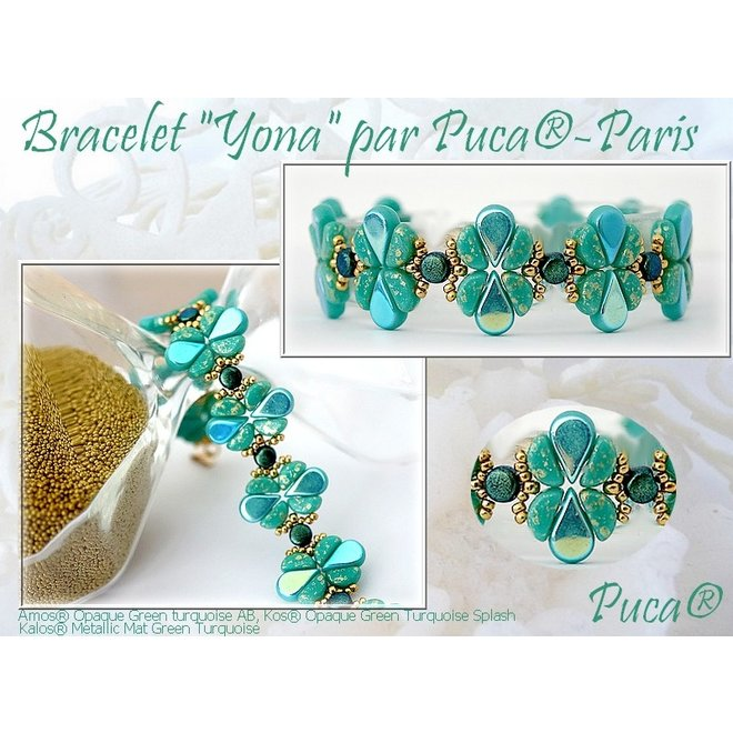 Amos® par Puca® - Opaque Green Turquoise