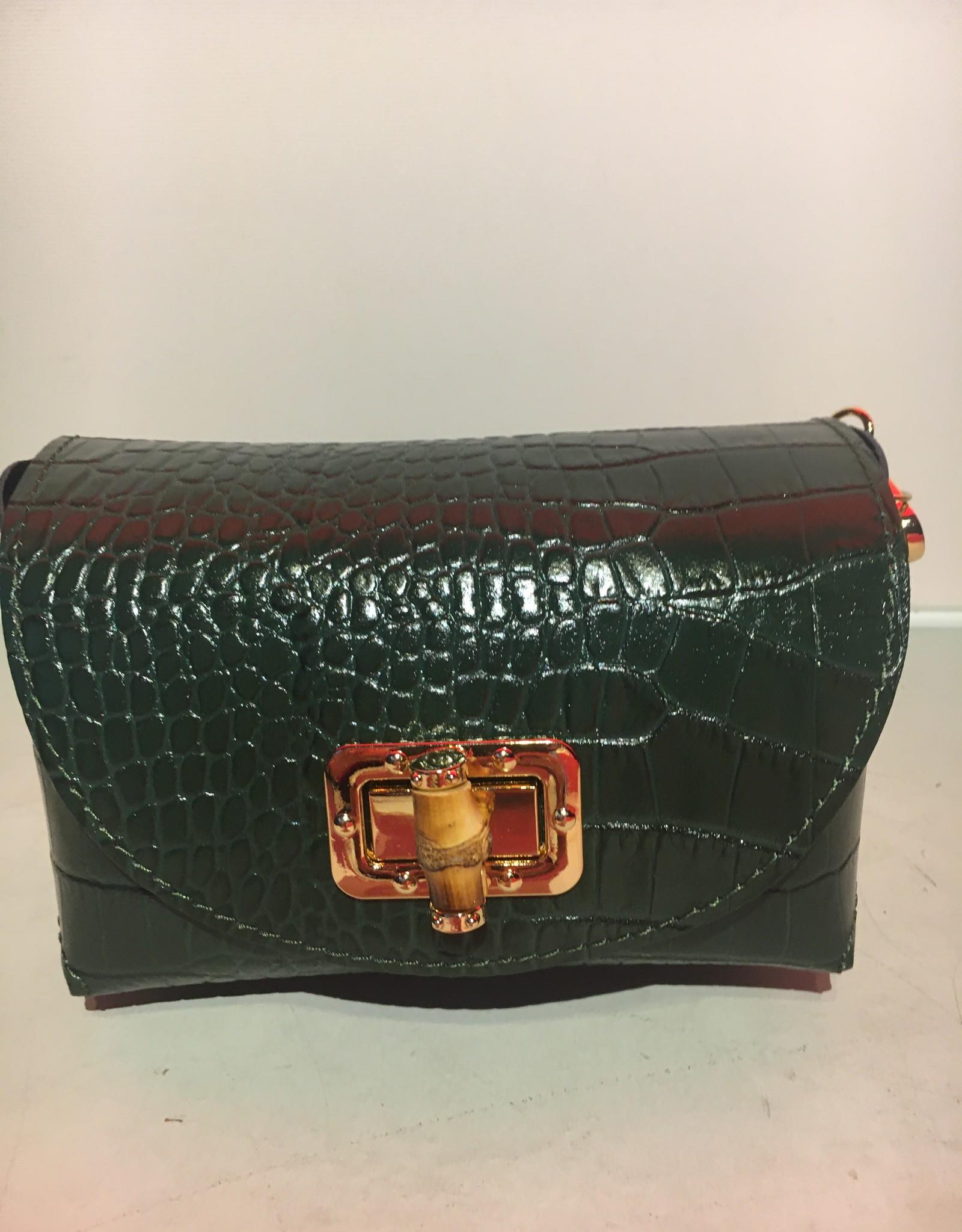 Mondieux Madame Little shoulder bag, crocodile leather