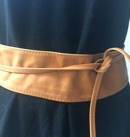 Giuliano Wide leather belt
