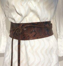 Giuliano Wide soft leather belt