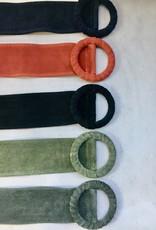 Giuliano Brede daimleder riem met doortrekgesp, meerdere kleuren