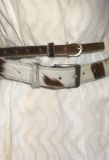 Giuliano Belt in cow leather, wide and small.