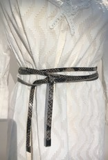 Giuliano Small leather belt in snake print