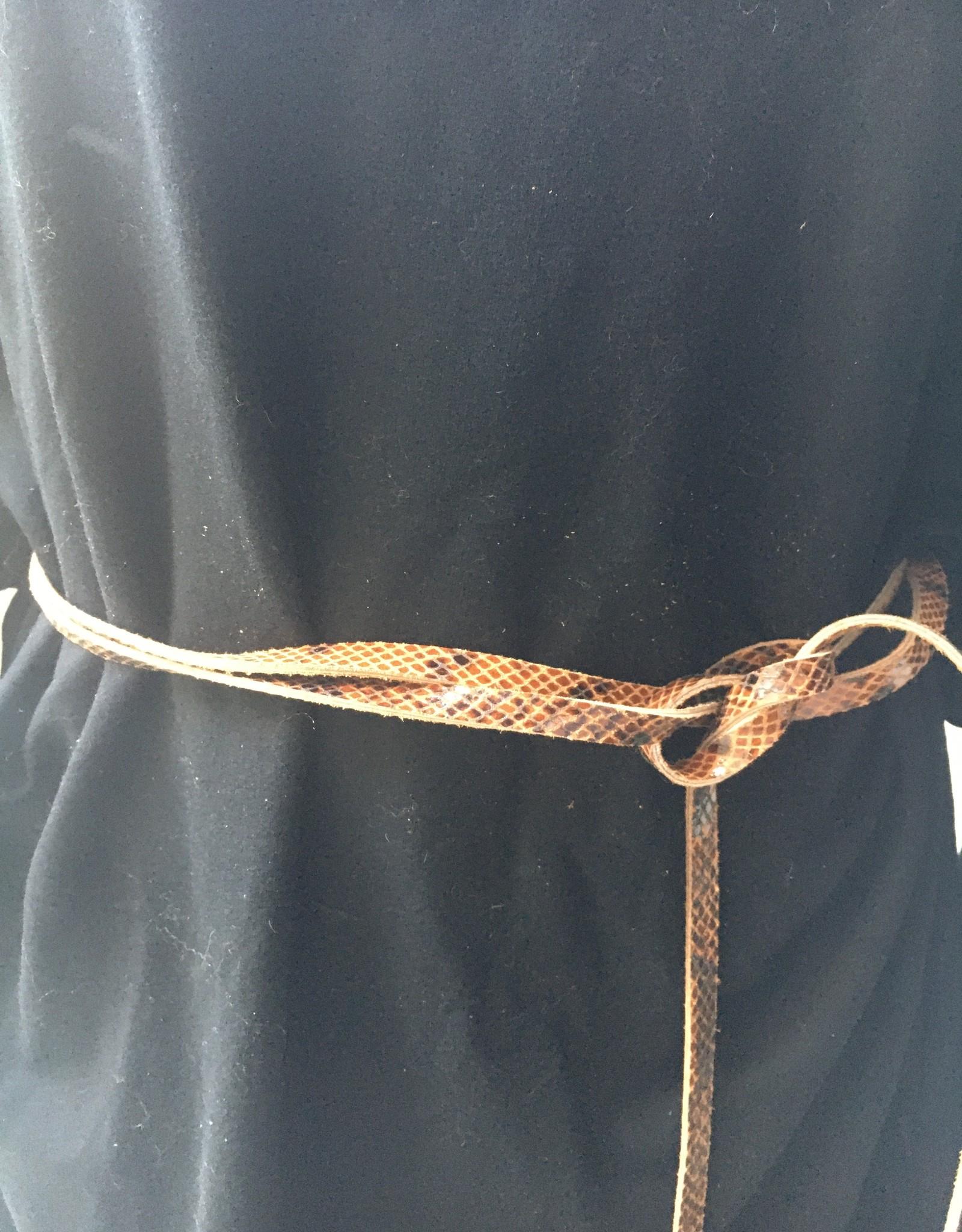 Giuliano Dun lederen riempje in slangenprint