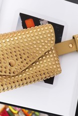Hipbag with studs,  pefect to go out, black and gold