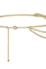 Ketting riem, trendy accessoires, goud- en zilverkleurig