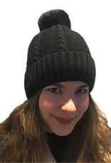 Hats knitted with pompon