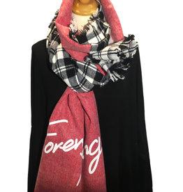 Sjaal in 2 stijlen.