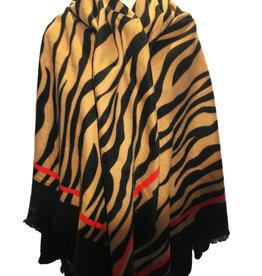 Square scarf zebra print