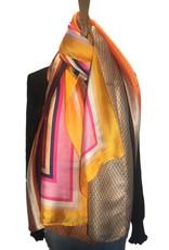 Satijnen colorblocking sjaal