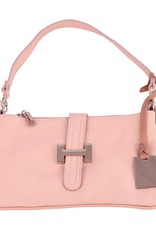 Beautiful genuine leather bag with H-buckle in front with short and long belt