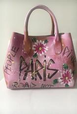 Unique bag, leather, handpainted