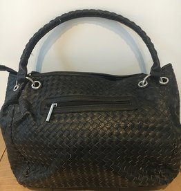 Woven bag in artifical leather