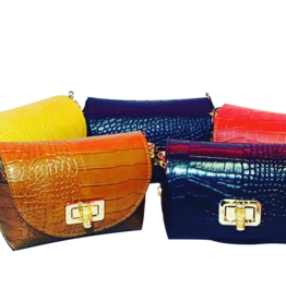 Mondieux Madame Crocodile leather bag (small)