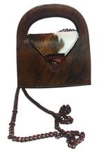 Mondieux Madame Bag in cowskin with chainbelt