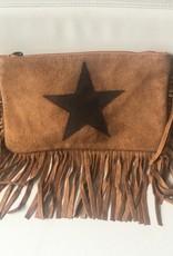 Boho buckskin bag