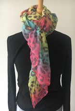 Pastel colored scarf with print