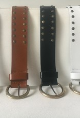 Wide belt with studs