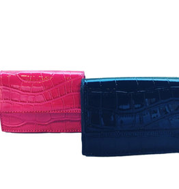 Small hip bag in crocodile leather