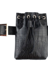 Hipbag croco artificial leahter with sliding belt, several colors