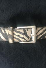 Riem zebra/panterprint, echt leder