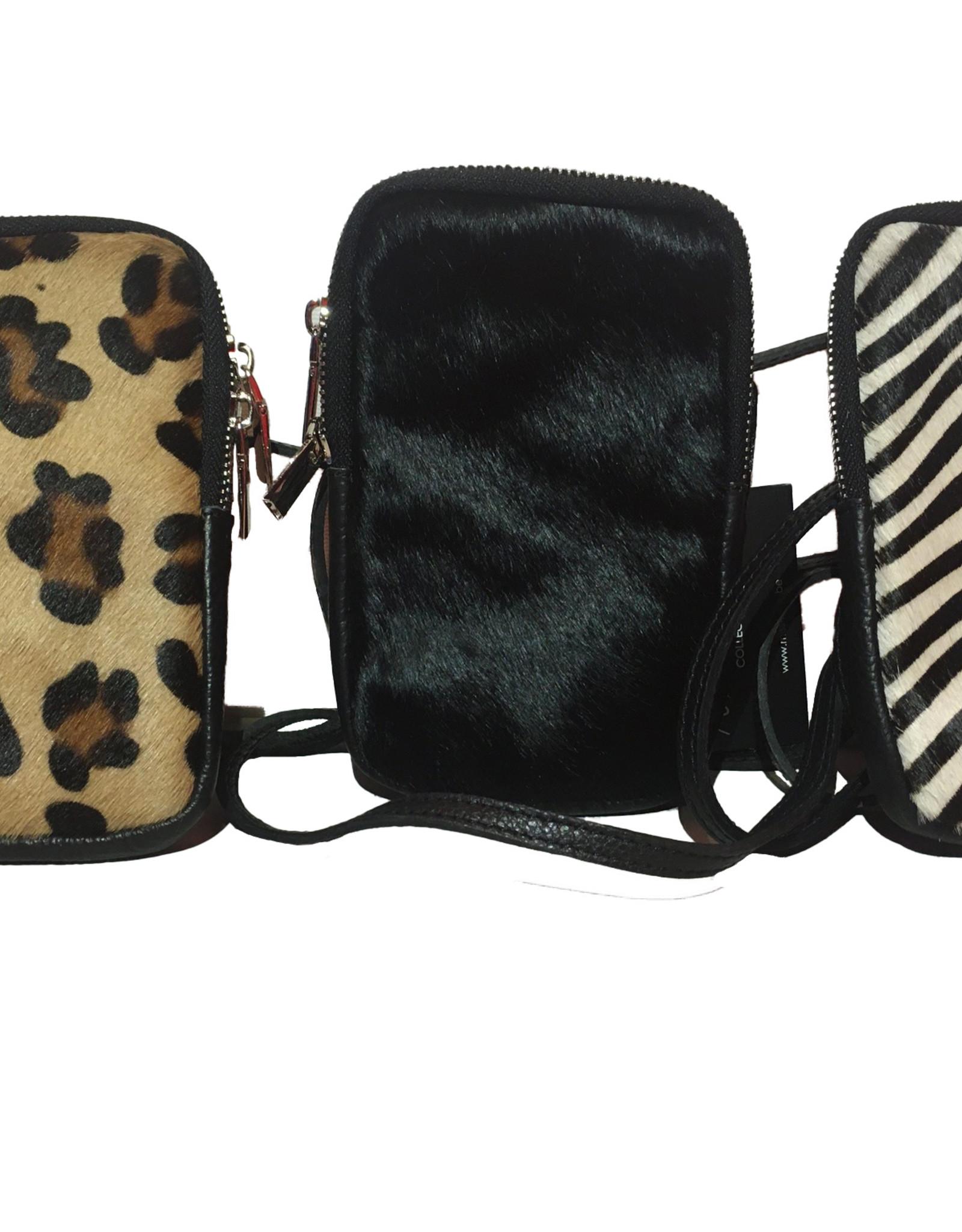 Mobile phone bag in cowskin