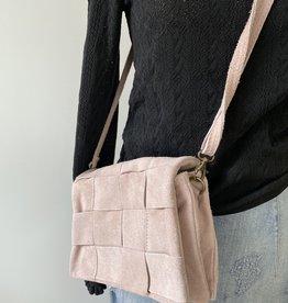 Bag in buckskin, woven frontside