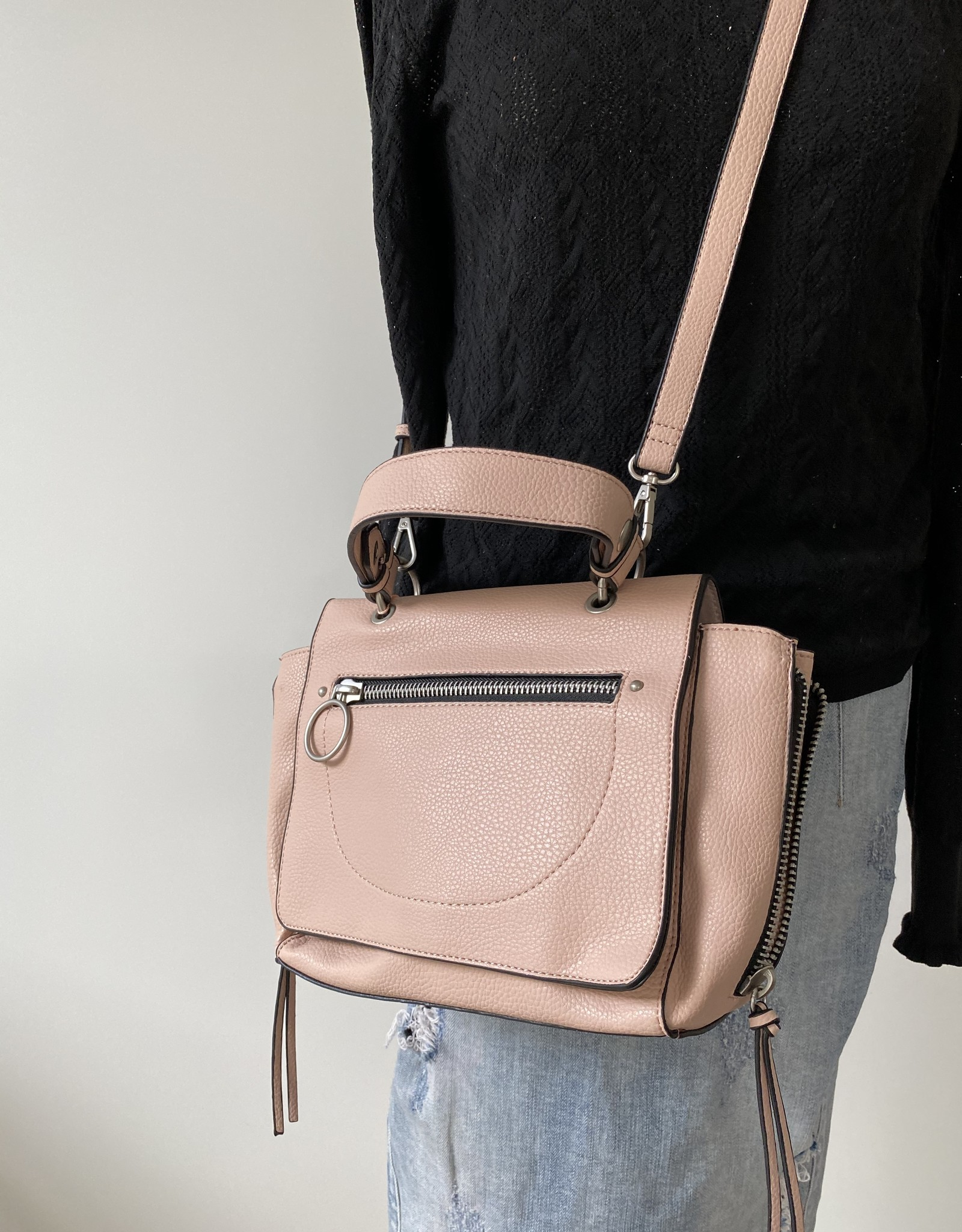 Little handbag in artificial leather