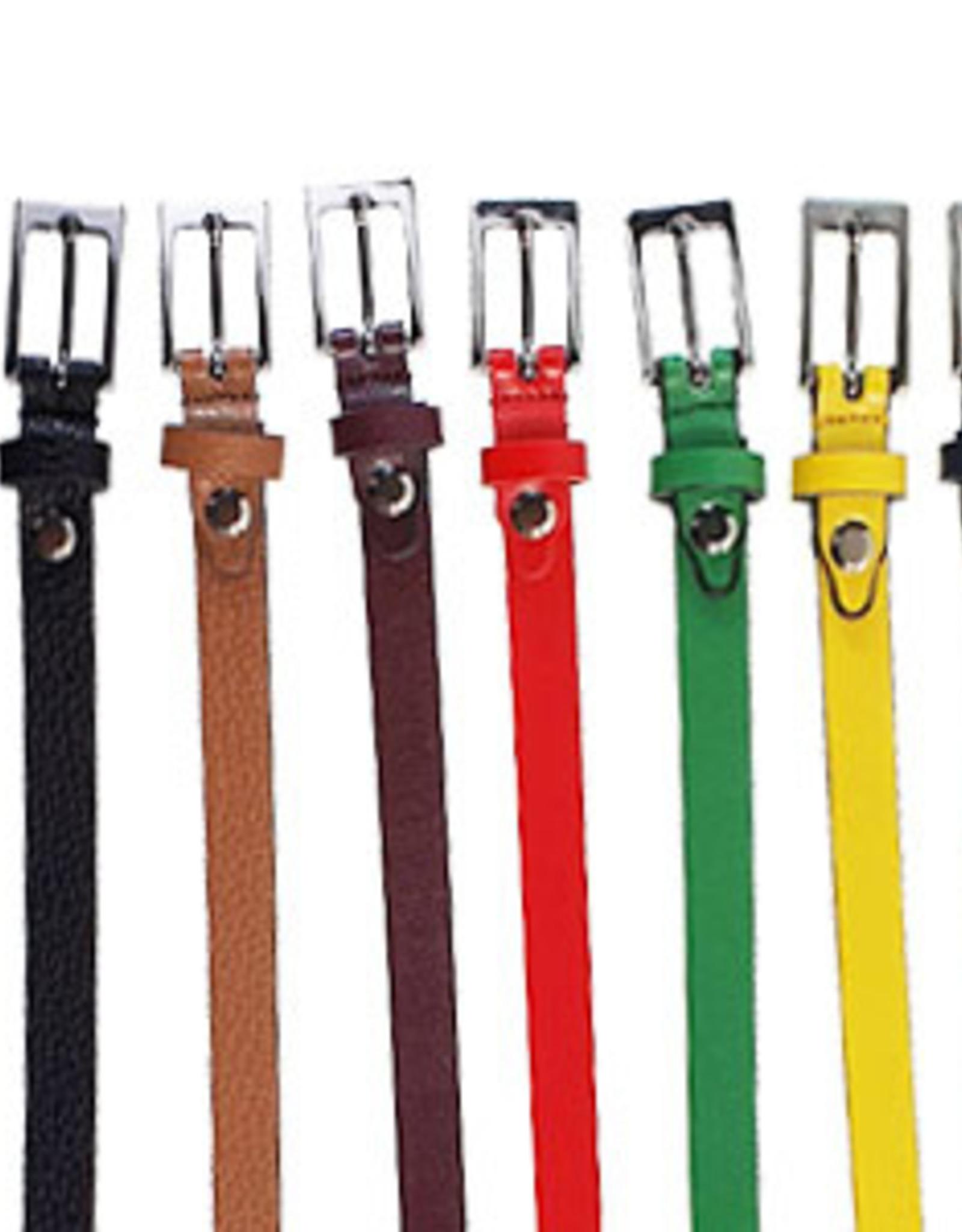 Leather belt in nice colors, 1,5 cm. width