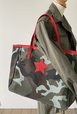 Shopper in  canvas camouflageprint