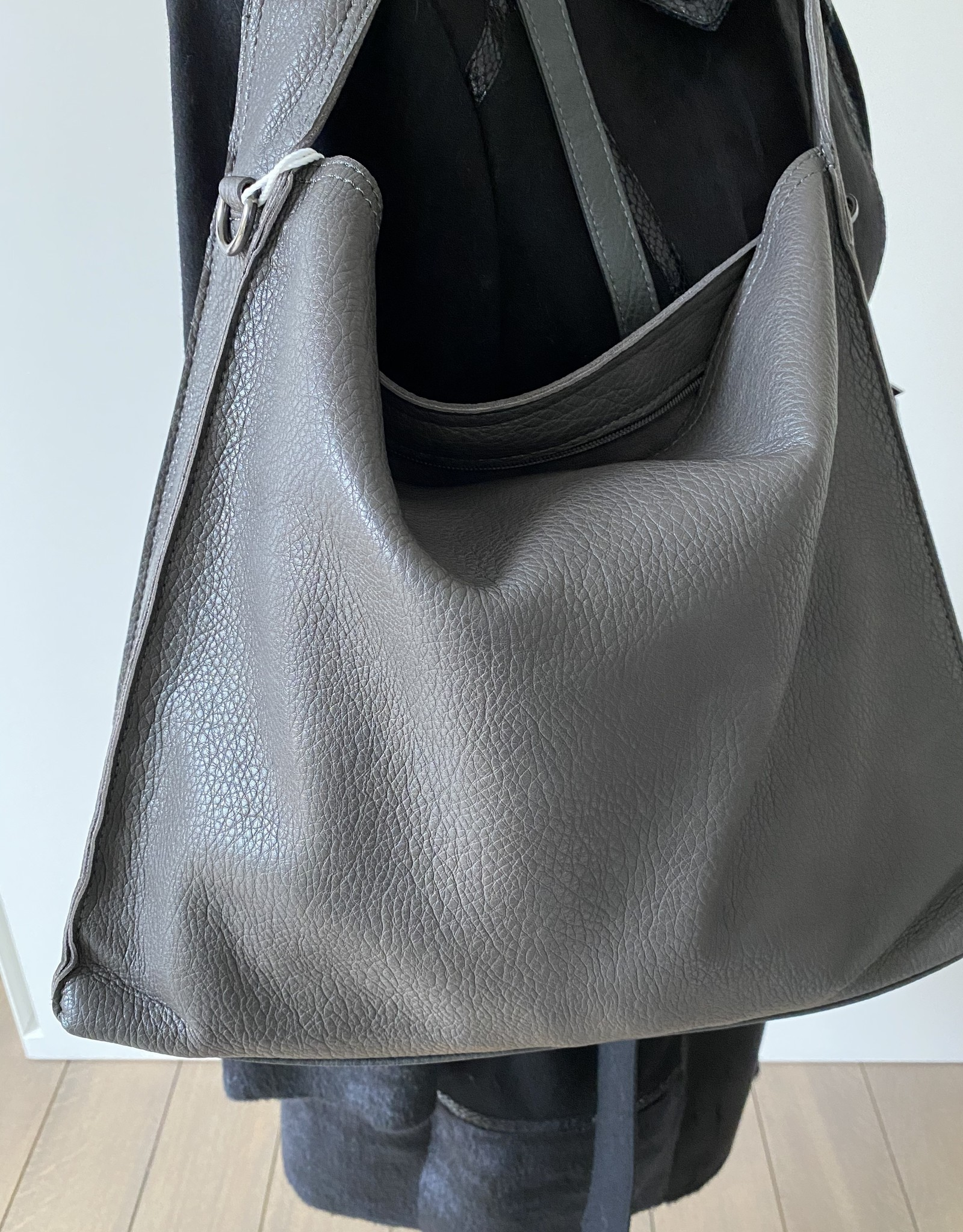 Big bag, artificial leather with little bag inside