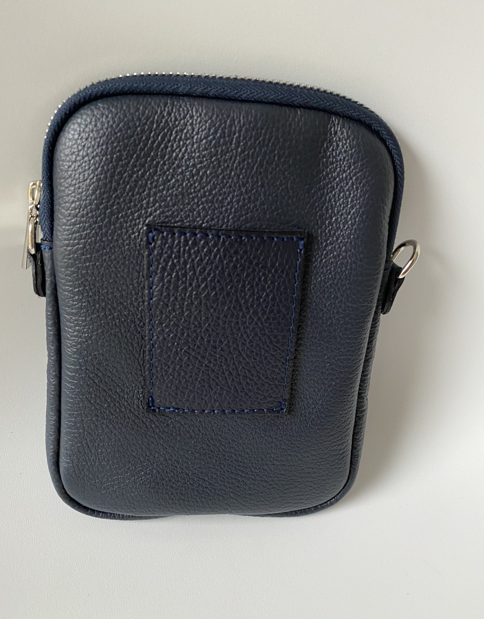 Little leather bag ideal for mobile phone.