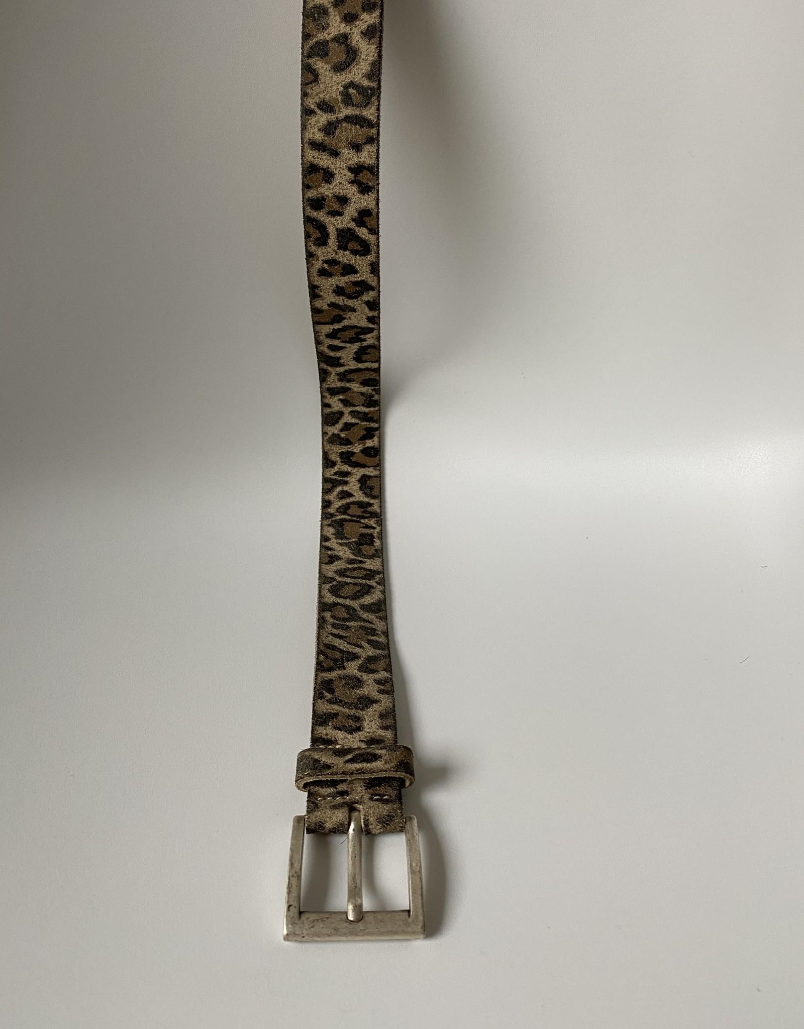 Belt zebra/panter print, genuine leather