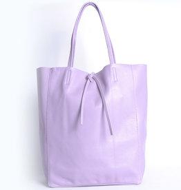 Giuliano Lederen shopper in paars