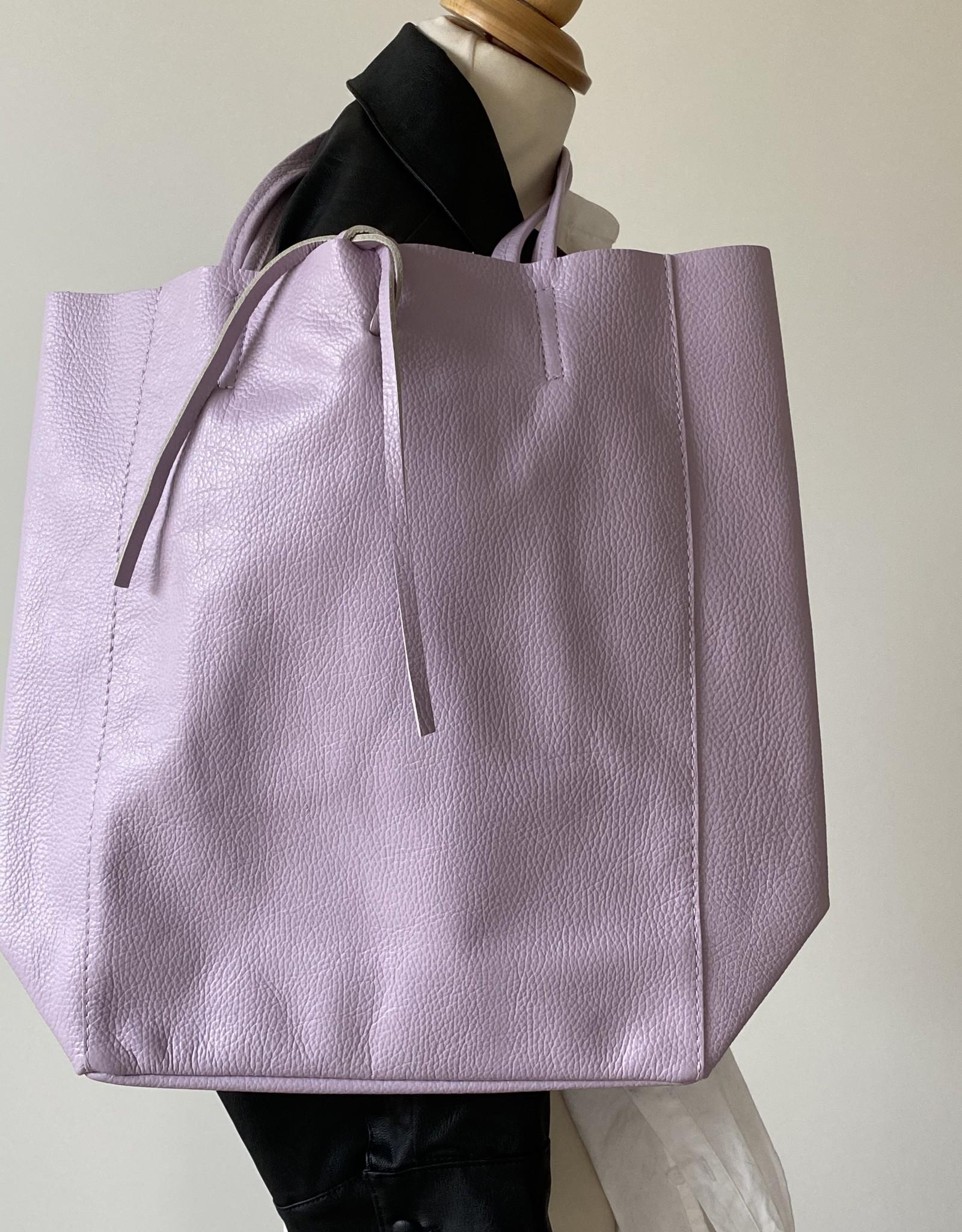 Giuliano Leather shopper in purple