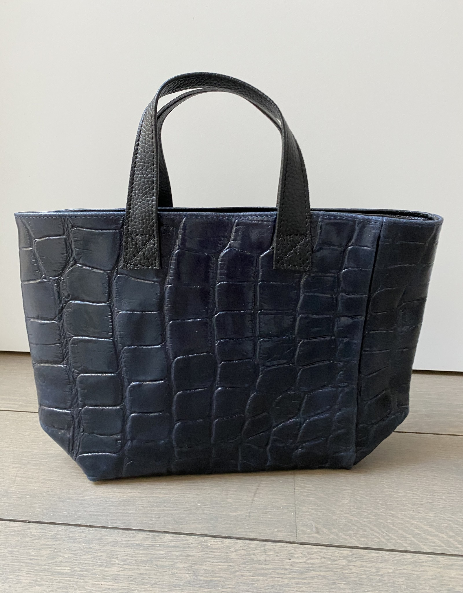 Crocco leather little bag in dark blue
