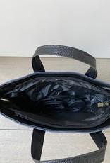 Crocco leder tasje donkerblauw