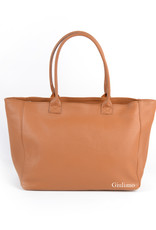 Leather shopper.