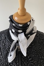 Little scarf, black with white dots.